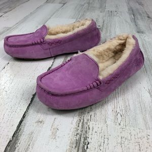 UGG Ansley purple slippers size 5